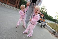 gemelli delle sorelle Fotografia Stock