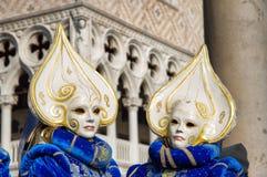 Gemelli di carnevale di Venezia Fotografia Stock Libera da Diritti