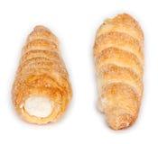 Gemello del grafico a torta crema rotolato croccante Fotografia Stock Libera da Diritti