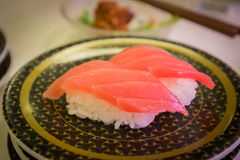 Gemello del pesce dei sushi con wasabi in ristorante Fotografia Stock