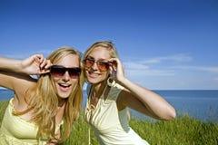 Gemelos en el verano Imagen de archivo