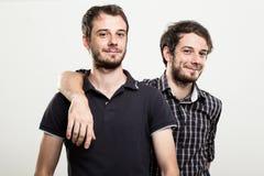 Gemelos felices Fotografía de archivo libre de regalías