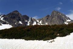 Gemelos - picos de montaña Imagen de archivo libre de regalías