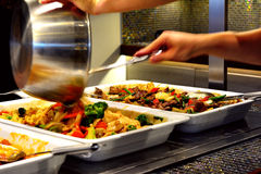 Gemengd Aziatisch voedsel stock afbeeldingen