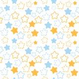 Gemengd sterrenpatroon in blauwe en oranje kleuren Royalty-vrije Stock Fotografie