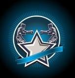 Gemengd vechtsportenpictogram of embleem Stock Afbeelding