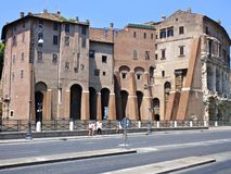 Gemengde Architectuur in Rome Itali? stock afbeeldingen