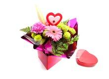 Gemengde bloemen voor valentijnskaart Royalty-vrije Stock Foto's