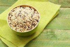 Gemengde bruine en zwarte wilde rijst Royalty-vrije Stock Foto's