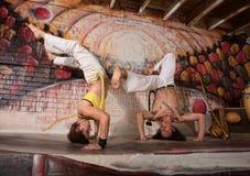 Gemengde Capoeira-Deskundigen royalty-vrije stock foto