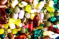 Gemengde capsules en tabletten 1 royalty-vrije stock fotografie