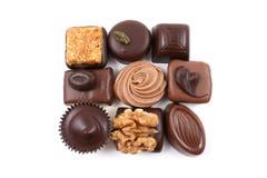 Gemengde chocolade royalty-vrije stock afbeelding