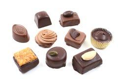 Gemengde chocolade stock afbeeldingen