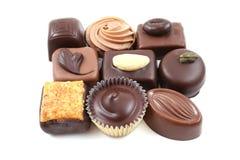 Gemengde chocolade stock foto's