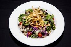 Gemengde dinersalade van greens en rood Stock Fotografie