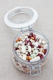 Gemengde droge bonen stock foto's