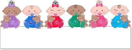 Gemengde etnische babys Stock Fotografie