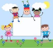 Gemengde etnische jongens en meisjes vector illustratie