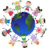 Gemengde etnische jongens en meisjes stock illustratie