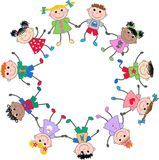 Gemengde etnische kinderen Royalty-vrije Stock Afbeelding