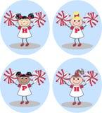 Gemengde etnische meisjes vector illustratie