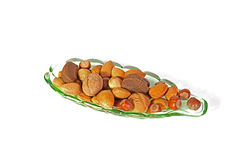 Gemengde feestelijke noten. royalty-vrije stock afbeeldingen