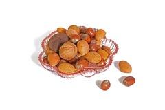 Gemengde feestelijke noten. royalty-vrije stock foto's