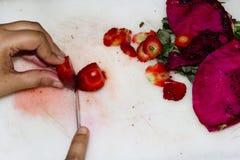 Gemengde fruitsalade Royalty-vrije Stock Afbeeldingen