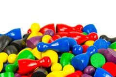 Gemengde gekleurde halmakegels met copyspace die op meerderheid wijzen stock afbeeldingen