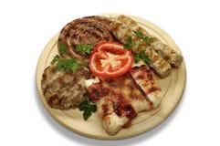 Gemengde grill van varkensvlees Stock Foto