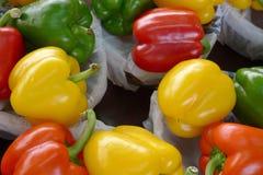 Gemengde groene paprika's Royalty-vrije Stock Fotografie