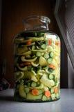 Gemengde groente in een kruik Royalty-vrije Stock Foto's