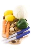 Gemengde groenten op een houten raad Royalty-vrije Stock Foto's