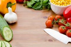 Gemengde groenten op een lijst Royalty-vrije Stock Foto