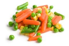 Gemengde groenten op witte achtergrond stock foto's