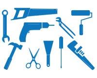Gemengde hulpmiddelreeks stock illustratie