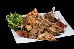 Gemengde kebab Stock Foto