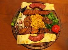 Gemengde kebab royalty-vrije stock foto's