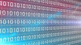 Gemengde kleur van de gegevens de digitale technologie aantallen 4K stock illustratie