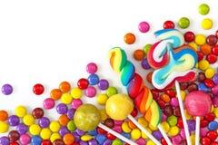 Gemengde kleurrijke snoepjes Stock Afbeeldingen
