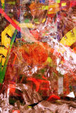 Gemengde media op Canvas royalty-vrije stock fotografie