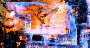 Gemengde media op Canvas stock afbeelding