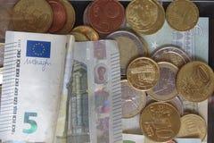 Gemengde muntenachtergrond Royalty-vrije Stock Foto