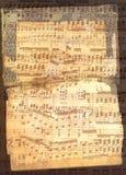 Gemengde oude document en nota'sachtergrond Royalty-vrije Stock Fotografie