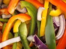 Gemengde peper en uisalade Stock Afbeelding