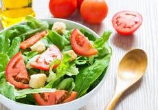 Gemengde plantaardige salade Stock Foto's