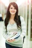 Gemengde ras ollege student stock foto's