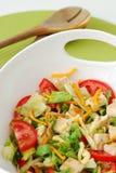 Gemengde salade met kip en kaas Royalty-vrije Stock Foto