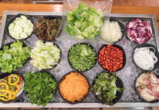 gemengde saladebar Stock Foto's