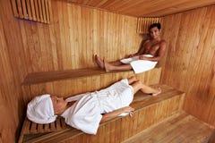 Gemengde sauna stock foto's